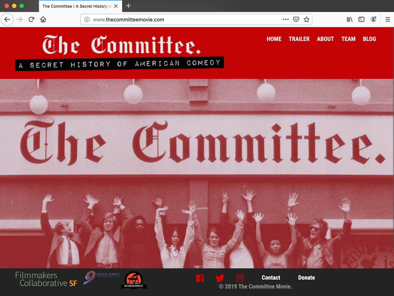 The Committee Movie website as of June 2019