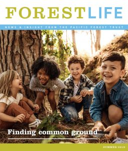 Cover of PFT's ForestLife newsletter - Summer 2019