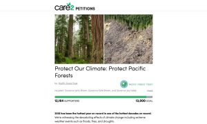 Image of Care2 petition for Pacific Forest Trust
